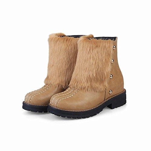 Mee Shoes Damen warm gefüttert kurzschaft Schneestiefel Aprikose