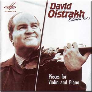 Vitali, Gluck, Schumann, Brahms, De Falla, Albeniz, Granados, Debussy, Glazunov, Rachmaninov - Pieces for Violin and Piano - David Oistrakh, Vol. 3 (Albeniz Piano Pieces)