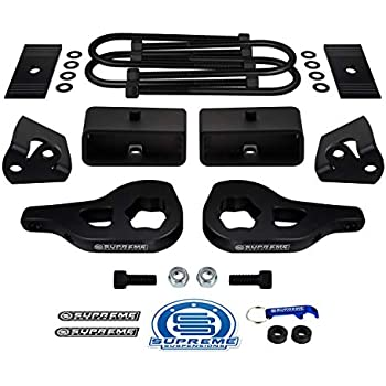 Full 3 Front with 11 Extended U-Bolts for Non-Overload Models with 4 Axle Supreme Suspensions 2 Rear Lift for 2003-2012 Dodge Ram 2500 3500 4WD