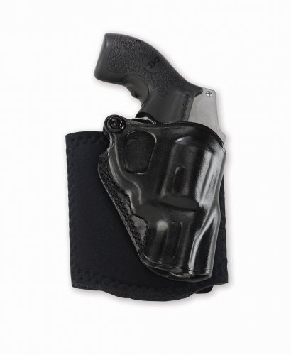 Ankle Glove Holster - Galco AG158B Ankle Glove Ankle Holster - Smith & Wesson J Frame and Bodyguard Revolvers, Right Draw