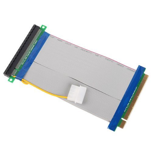 DN Powered Riser Cable 16X PCI-E PCI-Express Ribbon Flexible Extender Adapter DN10802393