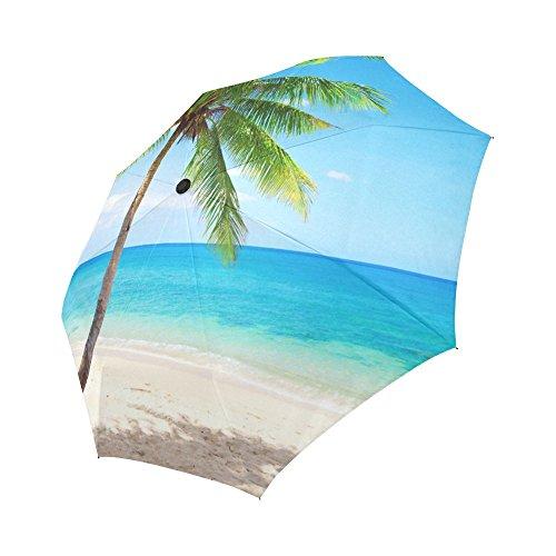 ADE Fashion Custom Travel Umbrella Tropical Beach Palm Tr...