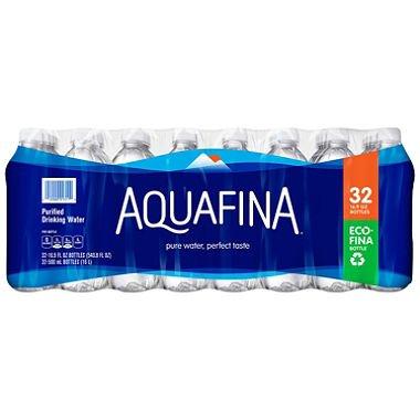 Aquafina Purified Drinking Water, 16.9 Oz (32 Bottles) by Aveeno