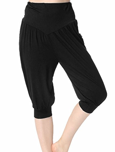 Femmes souple Extensible taille lâche capris Bloomers Yoga