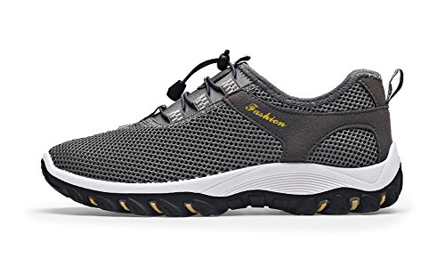 Summer Climbing Mesh Men's Walking Shoes Grey Breathable Slip Sports On Outdoor Shoes r1IrwHq