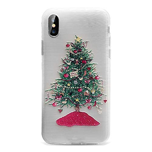 Christmas Phone Case iPhone X 8 7 6S 6 Plus XS Max 5S SE 2019 Year Cases iPhone 6 6S 7 8 Plus 10 Accessories,Christmas Tree 1 iPhone 7 Plus