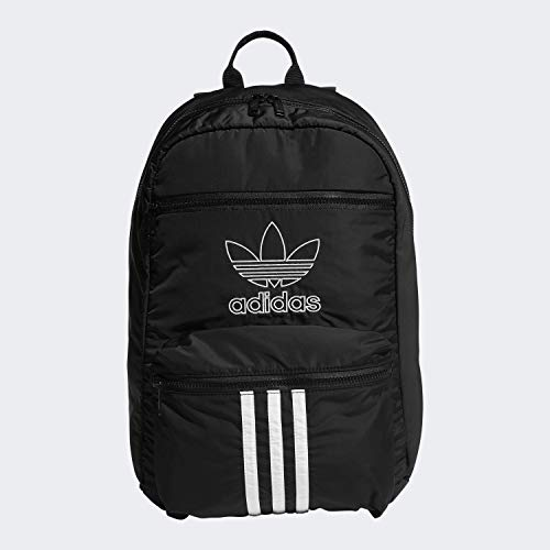 adidas Originals Unisex National 3-Stripes Backpack, Black/White, ONE SIZE (Adidas The Brand With The 3 Stripes)