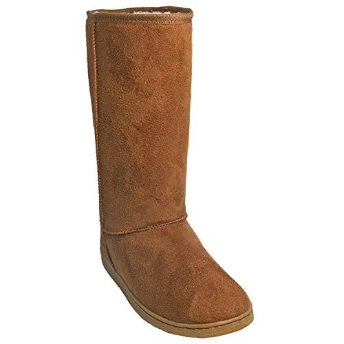 DAWGS Women's 13 Inch Microfiber Faux Shearling Vegan, Chestnut, 9 M US from DAWGS