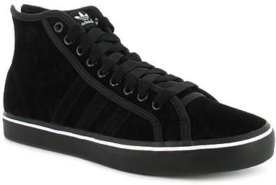 Hombre Adidas Original Nizza High Top trainers, tacon de cierre de cremallera