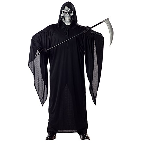 Men In Black Group Costume (California Costumes Men's Grim Reaper Costume,Black,X-Large)
