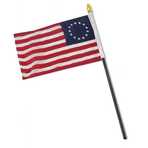 Mikash Historical Betsy Ross Flag 4x6 Desk Table Stick (Sewn Edges) | Model FLG - ()