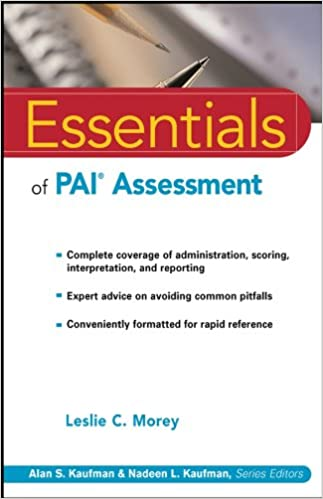 Essentials of PAI Assessment: 9780471084631: Medicine