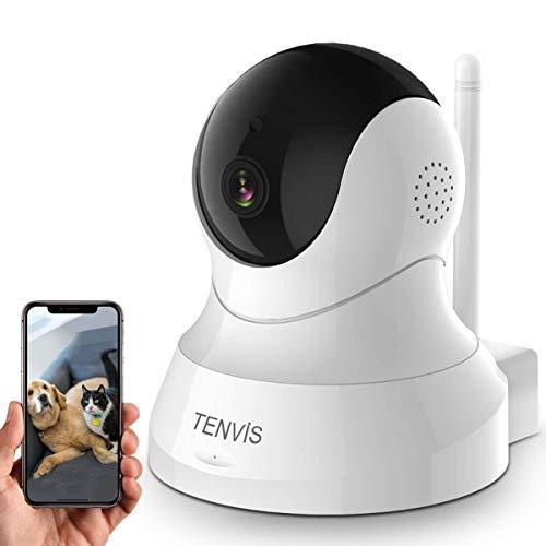 ネットワークカメラ wifi-防犯カメラ ワイヤレス 720p ペット用カメラ ベビーモニター IPカメラ 水平355度 垂直120度 智能暗視機能 スマホ対応 暗視撮影 動体検知 設置簡単 ペット 防犯 監視 屋内 介護 子供 猫 留守番 見守り ホワイト 日本語説書 TH661