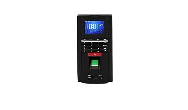Ciecoo Biométricos Asistencia de huellas dactilares Reloj de tiempo y soporte de control de acceso Huella digital, tarjeta de identificación, ...
