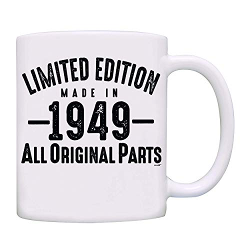 Mug 1949-70th Birthday Gifts Limited Edition Made In 1949 All Original Parts Coffee Mug-1949-0070-White