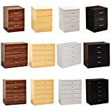 Home Discount White Chest of Drawers, 5 Drawer With Metal Handles & Runners, Unique Anti-Bowing Drawer Support, Riano Bedroom Furniture