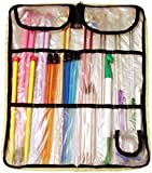 Susan Bates Suede Microfiber Zip Knitting Needle Case, 15 by 12-3/4 by 5-Inch, Assorted Colors