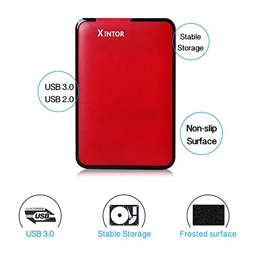 XINTOR Portable External Hard Drive USB3.0 SATA HDD Storage for PC, Mac, Desktop, Laptop, MacBook, Chromebook, Xbox One, Xbox 360, PS4, PS4 Pro, PS4 Slim by XINTOR (Image #3)