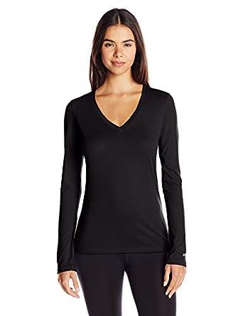 Soffe women 39 s long sleeve v neck tissue t shirt at amazon for Long sleeve v neck tee shirts