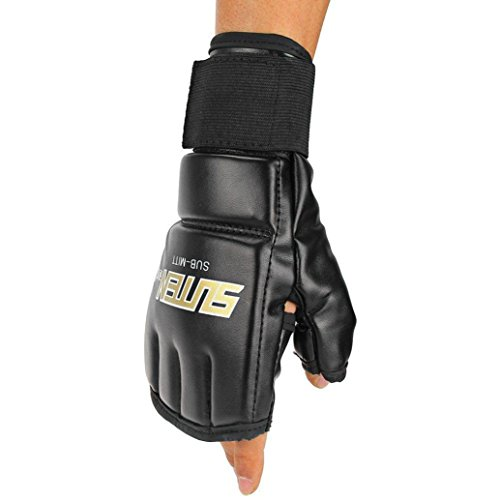 Binmer(TM) Cool MMA Muay Thai Training Punching Bag Half Mitts Sparring Boxing Gloves ()