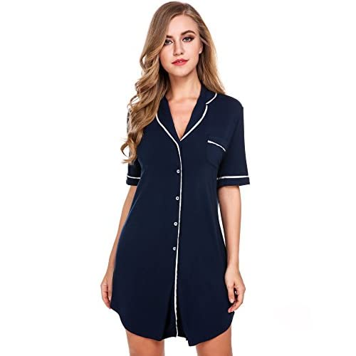 80%OFF Avidlove Womens Nightshirt Short Sleeves Pajama Top Boyfriend Shirt  Dress Nightie Sleepwear 5bb9ea4e7