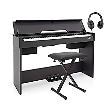 gear4music pianoforte digitale  DP-7 pianoforte digitale compatto Gear4music + kit accessori nero ...