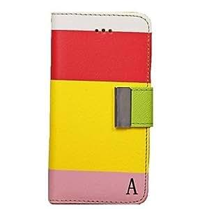 GONGXI- Caja del cuero del patrón de lujo de la carpeta para el iPhone 5C (colores surtidos) , E
