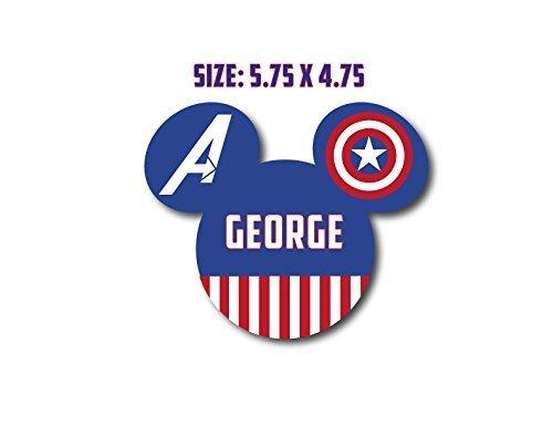 Disney Inspired Avengers Captain America Mouse Head Magnet for Disney Cruise