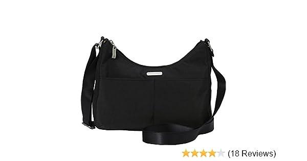 Amazon.com  baggallini RFID Harmony Medium Hobo Crossbody Commuter Bag -  (Black Sand)  Shoes 2c75872547a7c