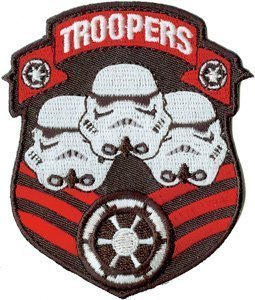 Star Wars Clone Storm Trooper Shield Iron On Patch ()