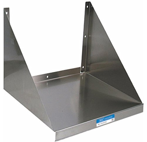 Shelf Wall Steel Commercial Stainless (BK Resources 18 Gauge Stainless Steel Wall Mounted Microwave Shelf, 24
