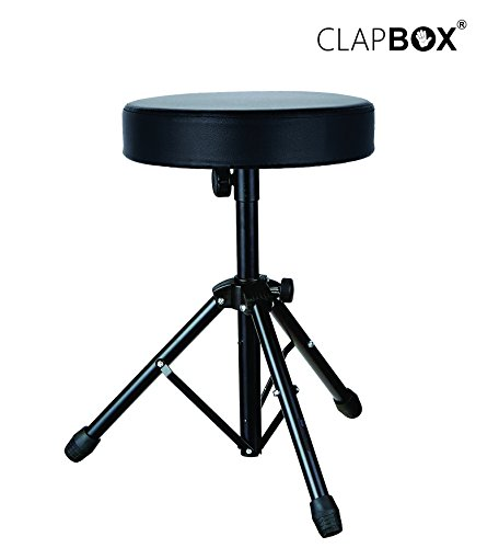 Clapbox Drum Throne - Padded Drum Stool with Anti-Slip Feet for Adults and Kids