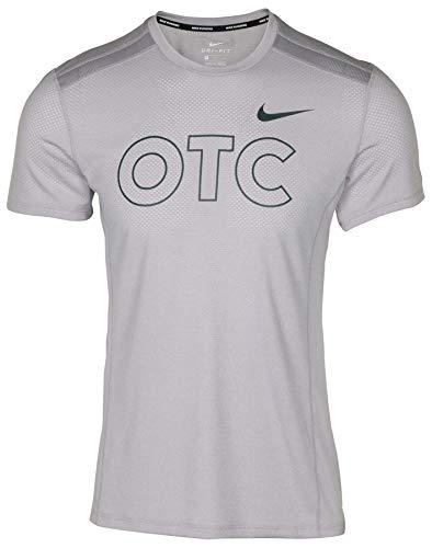 Nike Men's Miler Oregon Track Club Running Top-Wolf Grey-Large