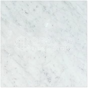 Carrara White Italian  Bianco Carrara  Marble 18 X 18 Field Tile  2 pcs. Carrara Marble Italian White Bianco Carrera 18x18 Marble Tile