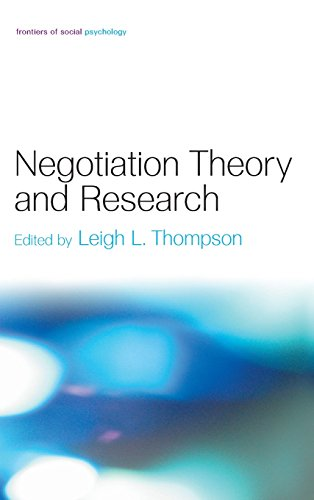 Negotiation Theory and Research (Frontiers of Social Psychology)