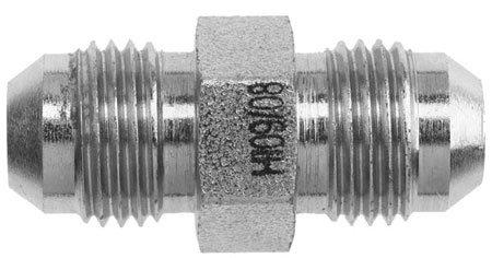 1//2 in Male JIC 37/° Flare x 1//4 in Male JIC 37/° Flare Brennan Steel 24 Units Straight Adapter