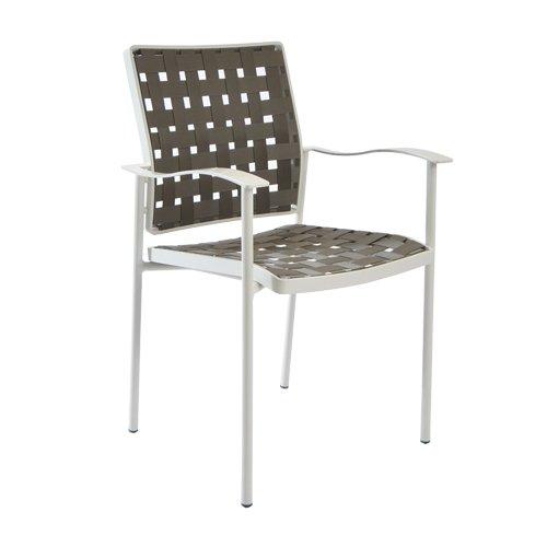 Fischer Möbel Sessel, Nizza, creme/weiß, 63,5 x 57 x 88 cm, 1570-44