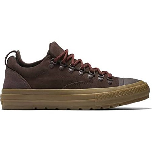 Converse Unisex Mens Chuck Taylor All Star Descent Ox Fashion Sneaker Leather Shoe, Burnt Umber/Jute/Red, 7