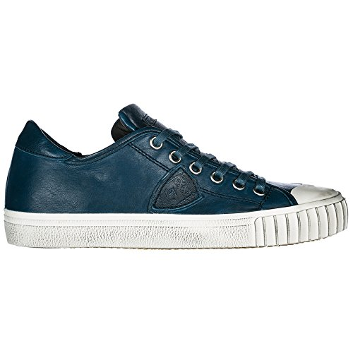 Blu En Model Sneakers Gare Baskets Homme Philippe Chaussures Cuir RwaxC7q868