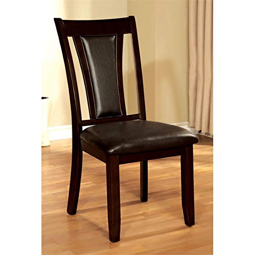 Furniture of America Arena Wood Dining Chair in Dark Cherry Set of 2