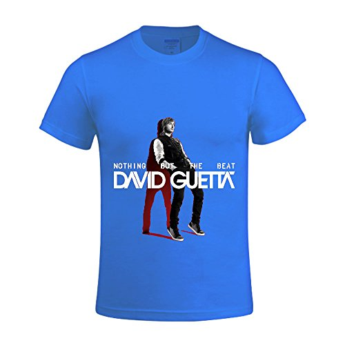 David Guetta Nothing But The Beat Men Tee Crew Neck Design Blue (Cabaret Outfits)