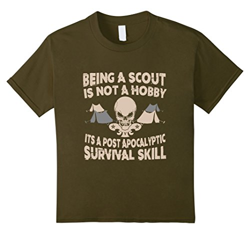 Kids Being A Scout Shirt 12 Olive