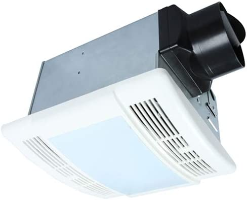 Bathroom Fan with Light Ultra Quiet 90CFM 1.5Sone Ventilation Fan Exhaust Fan with LED Light 12W E26 Base LED Bulb Included Akicon