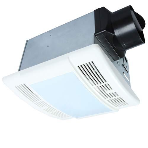 (Bathroom Fan with Light Ultra Quiet 90CFM 1.5Sone Ventilation Fan Exhaust Fan with LED Light(12W E26 Base LED Bulb Included)Akicon )