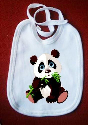 L arcobaleno de luces – Babero Oso Panda Baby baberos bavaglina Bimbo Bimba Baby Bib