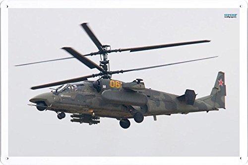 Aircraft Tin Sign Kamov Ka 50 Black Shark 8388 by Waller's Decor (7.8