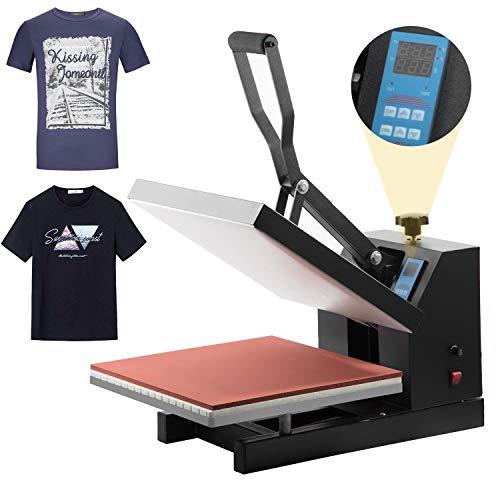 "Pro 15""x 15"" Heat Press Teflon Clamshell Digital Transfer T-Shirt Press Sublimation Transfer Machine Heat Press Machine for T Shirt (15"" X15"" T-Shirt)"