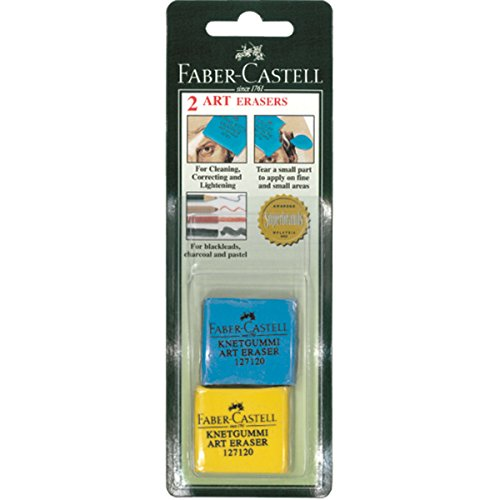 Faber-Castell 2 Kneadable Art Erasers, 127120-2, Colors May Vary