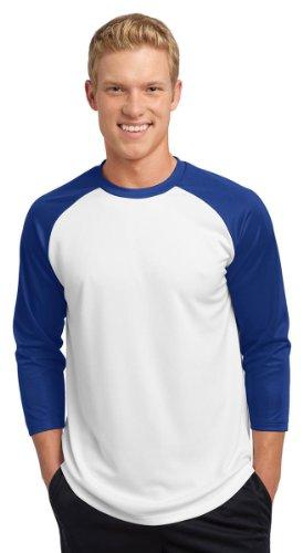 Sport-Tek Men's 3/4 Raglan Sleeve Crewneck Baseball Jersey