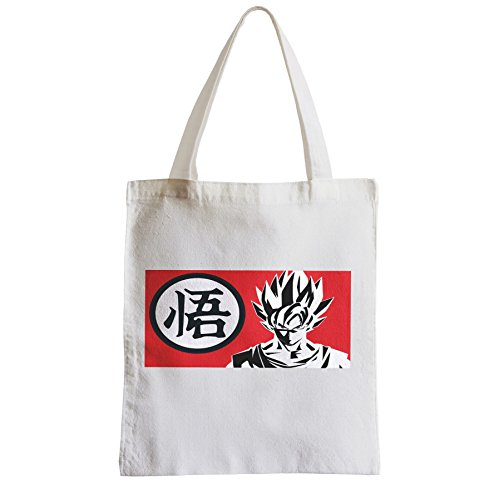 Große Tasche Sack Einkaufsbummel Strand Schüler Dragon Ball DBZ Kanji Goku